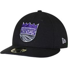 Men s New Era Black Sacramento Kings Official Team Color Low Profile 59FIFTY  Fitted Hat 18549fa7b9c0