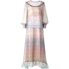 SUPERSWEET x moumi - Pearl Dress ($380) ❤ liked on Polyvore featuring dresses, white pearl dress, pearl dress, summer slip dress, slip dresses and cat print dress