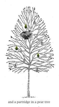a partridge in a pear tree - marama warren - Art Gallery