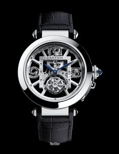 Pasha de Cartier Skeleton Flying Tourbillion Oh-Em-Gee! Amazing Watches, Beautiful Watches, Cool Watches, Dream Watches, Watches For Men, Patek Philippe, Pasha De Cartier, Fine Watches, Men's Watches