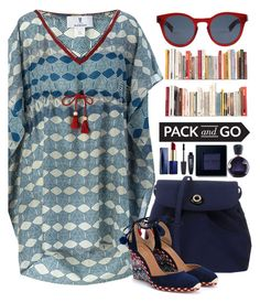 """Pack and Go / Kaftan Style"" by rasaj ❤ liked on Polyvore featuring Laura Manara, Aquazzura, Rimmel, Bobbi Brown Cosmetics, Estée Lauder, Lacoste and Ahlem"