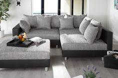Canapé d'angle modulable Loft noir/gris j'adore le principe de pouvoir tout moduler! Sofas, Multipurpose Room, Lounge, Living Room Inspiration, Decoration, Sweet Home, House Design, Couch, The Originals