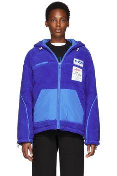 a8a6ddfd ADER error - Reversible Blue Fleece Hoodie Jacket Fleece Hoodie, Hoodie  Jacket, Ader Error