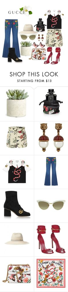 """Presenting the Gucci Garden Exclusive Collection: Contest Entry"" by benedictcigar ❤ liked on Polyvore featuring Allstate Floral, Gucci, Dolce&Gabbana and gucci"