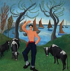 """Dancing Sailor"" by Sir Cedric Morris, 1925 Wales Uk, Painting & Drawing, Sailor, Celtic, Dancing, Moose Art, Sea, Welsh, Dark"