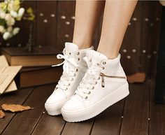 Details about Girl's popular Punk Canvas Sneakers Flat Platform ...