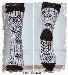 Ravelry: Garsnes Ugla / Garsnes Owl (Norsk og Engelsk) pattern by Hilde Aas Knitting Projects, Crochet Projects, Diy Projects To Try, Knitting Patterns, Fair Isle Knitting, Knitting Socks, Boot Toppers, Knitted Slippers, My Socks