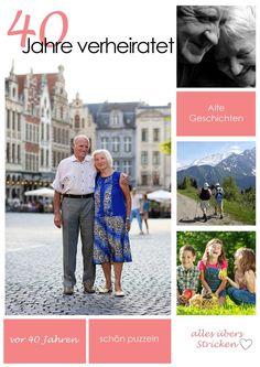 Eine schöne Geschenkidee, um deinen Eltern zur Rubin-Hochzeit zu schenken: eine eigene Zeitschrift mit all ihren Erlebnissen    www.jilster.de #magazin #zeitung #zeitungmachen #jubiläum #hochzeit #geschenk #diy