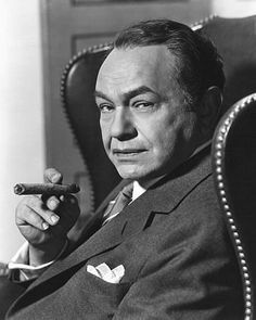 Edward G. Robinson (1893-1973) was a popular Romanian-born American actor. During Hollywood's Golden Age, he is best remembered for his many roles as gangsters, such as Rico in his star-making film Little Caesar and as Rocco in Key Largo.