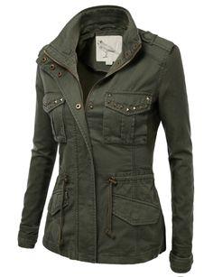 j tomson trendy military cotton drawstring anorak jacket - Google Search