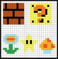 Super Mario Item Block Coin Bank + Sprites Kit - Perler Bead Project - Pixel Art Shop