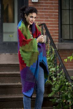 Paintbox Afghan - free knitting pattern