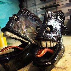 When you want a fierce fish with personality...Custom is the way to go! These pieces are part of the custom collection of Fish with Attitude. No two fish will be the same and each will feature the their own quirky personalities. Many of these pieces will have more detail or teeth than the standard Fish …
