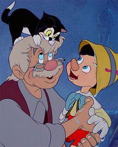~Katarina~Now, remember, Pinocchio: be a good boy. And always let your conscience be your guide. Disney Pixar, Disney Xd, Disney Cartoons, Disney Animation, Disney Magic, Disney Characters, Pinocchio Disney, Animation Movies, Disney Dream
