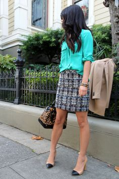 I have a sneaking suspicion a skirt very similar to this is waiting under the Christmas tree...