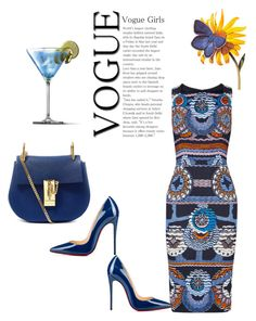 "Here""s A Clue It's Blue !! by kimberlydalessandro on Polyvore featuring polyvore, fashion, style, Peter Pilotto, Christian Louboutin, Chloé and clothing"