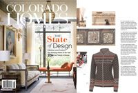 Colorado Homes & Lifestyle Magazine features our client Krimson Klover.   Based in Boulder, CO Krimson Klover founder & head designer Rhonda Swenson makes pretty & comfy women's clothing using sustainable production methods. Featured is Belle Ami zip card $158.00