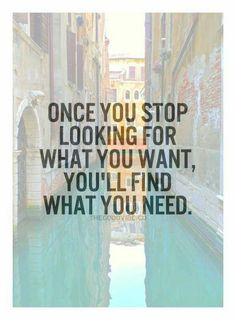 Wants vs Needs...