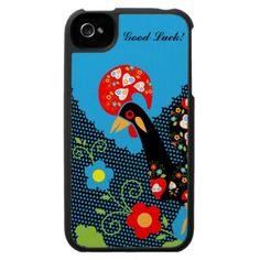 The Portuguese Rooster of Luck iPhone 4 Case