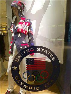 Polo Ralph Lauren® Sochi Styles for Women's Olympics Ralph Lauren Olympics, Polo Ralph Lauren, Uniform Design, Store Fronts, Visual Merchandising, Captain America, Retail, Cosplay, Windows