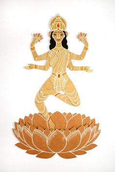 Lakshmi the Goddess of Wealth and Beauty - Articulated Paper Doll by Dubrovskaya.
