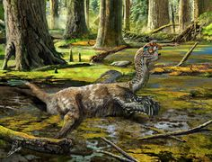 A reconstruction showing the last ditch struggle of Tongtianlong limosus as it was mired in mud by Zhao Chuang
