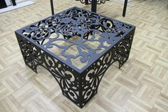 Plasma Cut Table- love!  visit stonecountyironworks.com for more wrought iron designs!