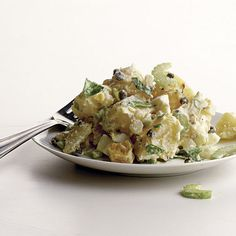 This classic version of creamy American potato salad combines Yukon Gold potatoes with onion, celery, hard-cooked eggs, and capers in a sour-cream dresing with Champagne vinegar. Create your own customized potato salad with the Recipe Maker. Edamame, Guacamole, American Potato Salad, Classic Potato Salad, Hunger, Recipe Maker, Smoked Chicken, Canned Chicken, Ranch Chicken