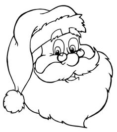 free santa coloring page clip art image clipart illustration of a winking santa colouring page