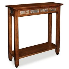 Rustic Slate Hall Stand  Rustic Oak Finish *** Be sure to check out this awesome product.Note:It is affiliate link to Amazon.