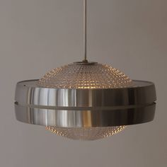 Set Of Five Raak Ufo Shaped Pendant Lights | From a unique collection of antique and modern chandeliers and pendants at https://www.1stdibs.com/furniture/lighting/chandeliers-pendant-lights/