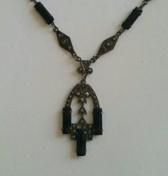 Check out this item in my Etsy shop https://www.etsy.com/listing/231536066/art-deco-marcasite-necklace-downton