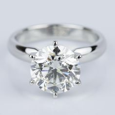 This recently purchased Comfort-Fit Solitaire Engagement Ring in Platinum features a 2.53 ct. diamond!