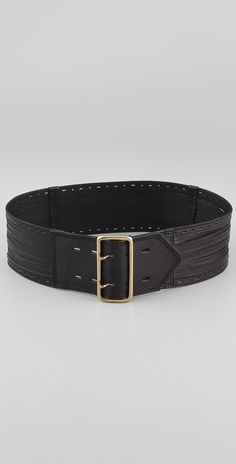 Linea Pelle Sliced & Perforated Waist Belt thestylecure.com