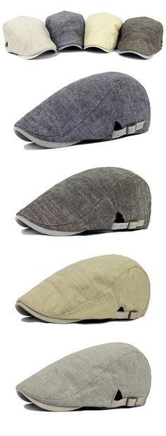 US$7.12 (47% OFF) Vintage Men's Cotton Beret Cap / Casual Newsboy Hats