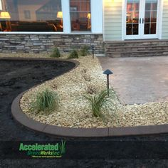 With the thickness of concrete curb edging, it is able to better contain your landscape rock to the beds instead of hiding in your grass waiting for the lawn mower.