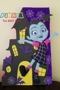 Vampirina 🕸🕸 #Piñatavampirina #fiestavampirina #decoracionvampirina Birthday Bag, Third Birthday, Birthday Parties, Disney Halloween, Happy Halloween, Halloween Party, Ideas Para Fiestas, Disney Theme, Party Themes