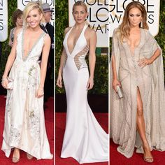 As swoon-worthy celebrity looks hit the red carpet at the 72nd Annual Golden Globes Awards, there were oohs and ahhs let out all over the world (especially at the InStyle offices)—but nothing stirred up quite as big of a response as those deep-diving necklines. RELATED: All The Golden Globes Looks You Need To See: Red…