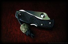 EDC paracord pocket knife lanyard/fob