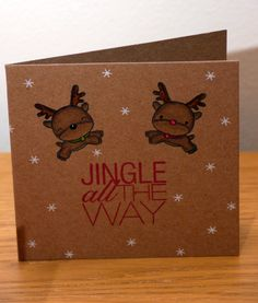 Mama elephant Reindeer Games and Jolly and Merry.  Technique Tuesday Jingle all the way