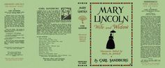 Mary Lincoln, Wife and Widow by Carl Sandburg on Facsimile Dust Jackets, LLC Doll House Crafts, Doll Crafts, Minis, Book Jacket, Book Nooks, Little Books, Mini Books, Paper Dolls, Lincoln