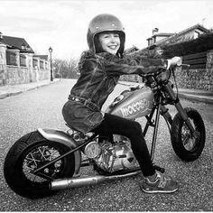 Custom Choppers, Custom Motorcycles, Custom Bikes, Mini Chopper, Chopper Bike, Lady Biker, Biker Girl, Ape Hanger Handlebars, Cafe Racers