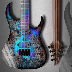 "Boyarsky Custom Guitars on Instagram: ""So colorful!  This is @dima_sympuls signature color scheme and it is available for any of our models.  #boyarskycg #xguitars…"" Custom Guitars, Color Schemes, Model, Instagram, Colour Schemes, Scale Model, Template, Modeling"