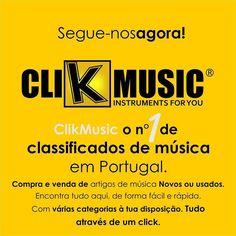 ClikMusic o nº 1 de classificados de música em Portugal.   Compra e venda de artigos de música Novos ou usados. Visite já em www.clikmusic.pt