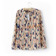 Free shipping Women 2012 fashion color blocking blouse, long sleeve silk shirt lady blouse women's OL Collar shirts on AliExpress.com. $15.50