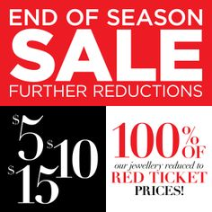 Have you checked out our end of season sale yet?