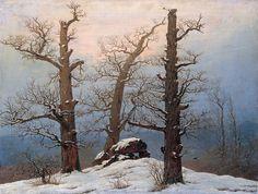Caspar David Friedrich: Cairn in Snow, 1807