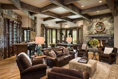Contemporary rustic Wyoming retreat with Southern charm