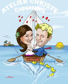 Just married By Christel Schols, sneltekenaar.nl