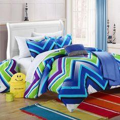 Chic Home Ziggy Zag Reversible Comforter Set Size: Full, Color: Blue